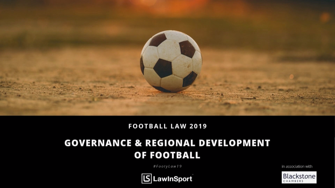 governance and regional development of football