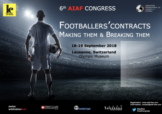 2018 AIAF Congress - Footballer's contracts - Making them and Breaking them