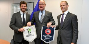 UEFA and ECA present letter of intent to EU Commissioner