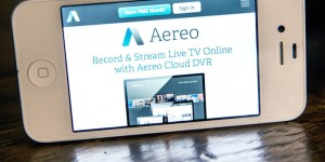 Aereo on mobile device