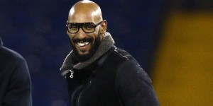 Nicolas Anelka in a coat