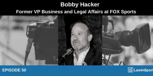Bobby Hacker podcast with broadcasting camera background