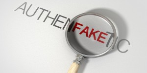 Counterfeiting fake and authentic words