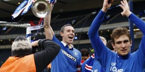 David Weir lifts trophy for Rangers
