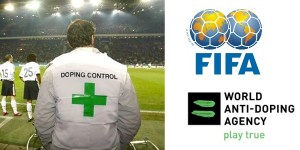 Doping Control and FIFA and WADA Logos