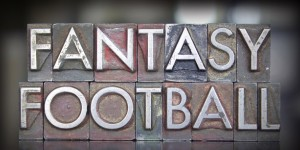 Fantasy football in block letters