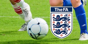 Football Chased with The FA Logo