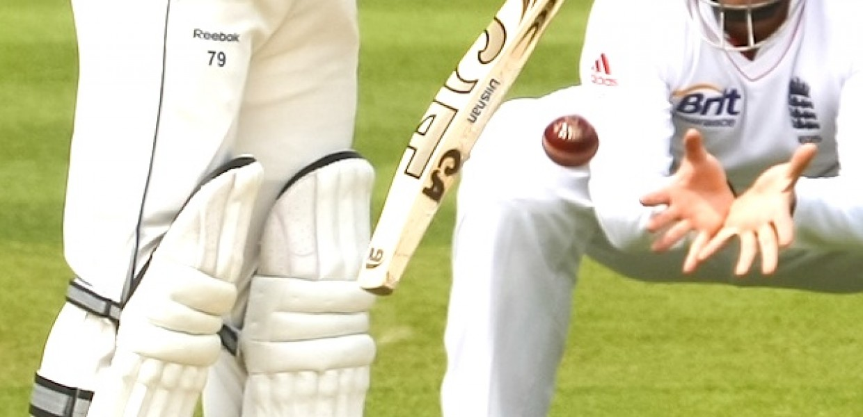 Cricket Batter deflects ball