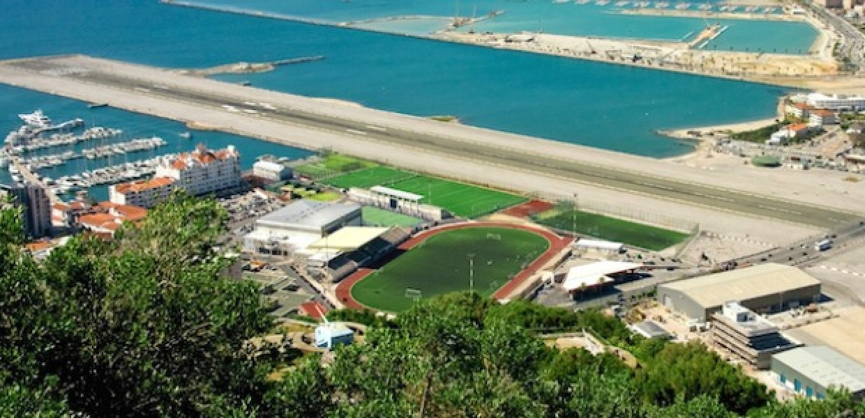 Gibraltar Airport and Victoria Stadium