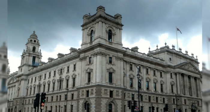 HMRC Building on a cloudy day