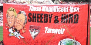 Hird and Sheedy Farewell Banner