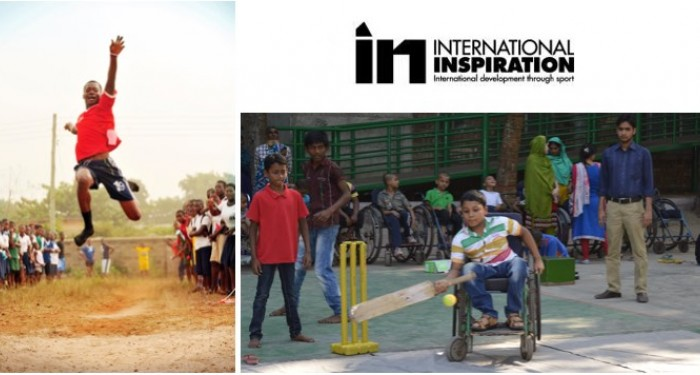 Images of projects and logo of International Inspiration