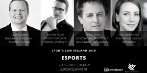 eSports Panel Speakers at Sports Law Ireland 19