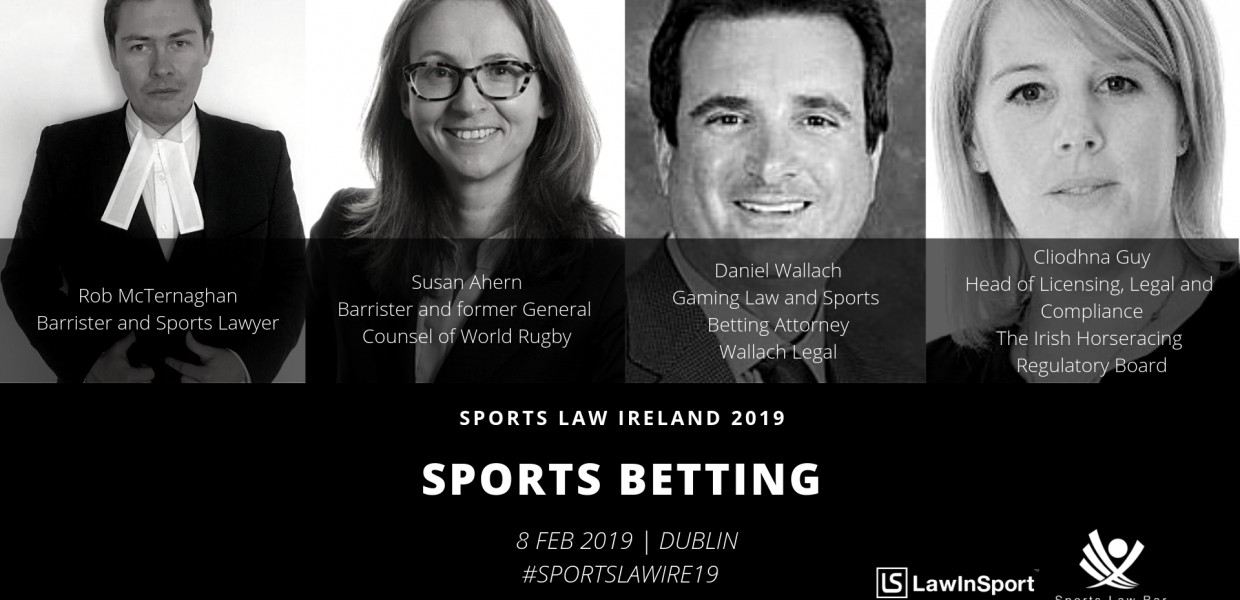 Sports Betting Panel Speakers at Sports Law Ireland 19