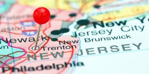New Jersey state on a map