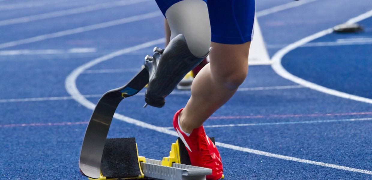 Paralympic Runner on track
