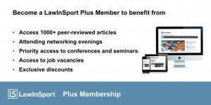 LawInSport Plus Membership Announcement Image