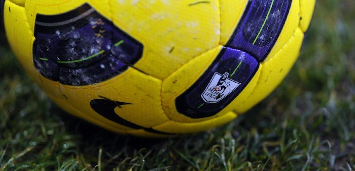 Premier League Badge on Football