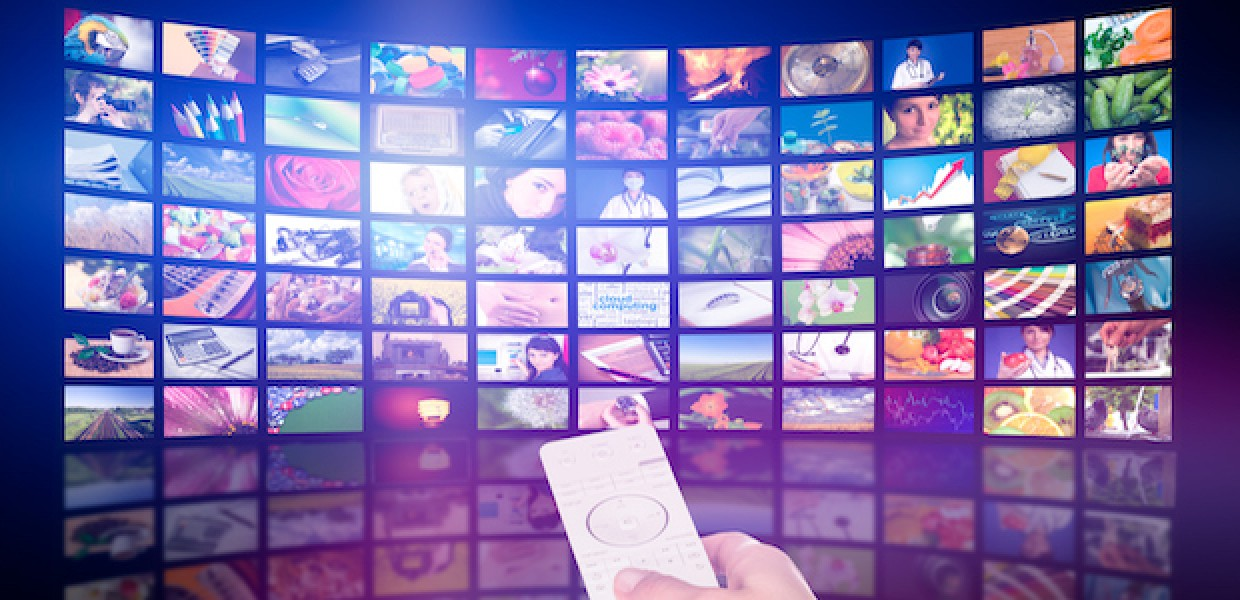 Selecting channels with a tv remote control