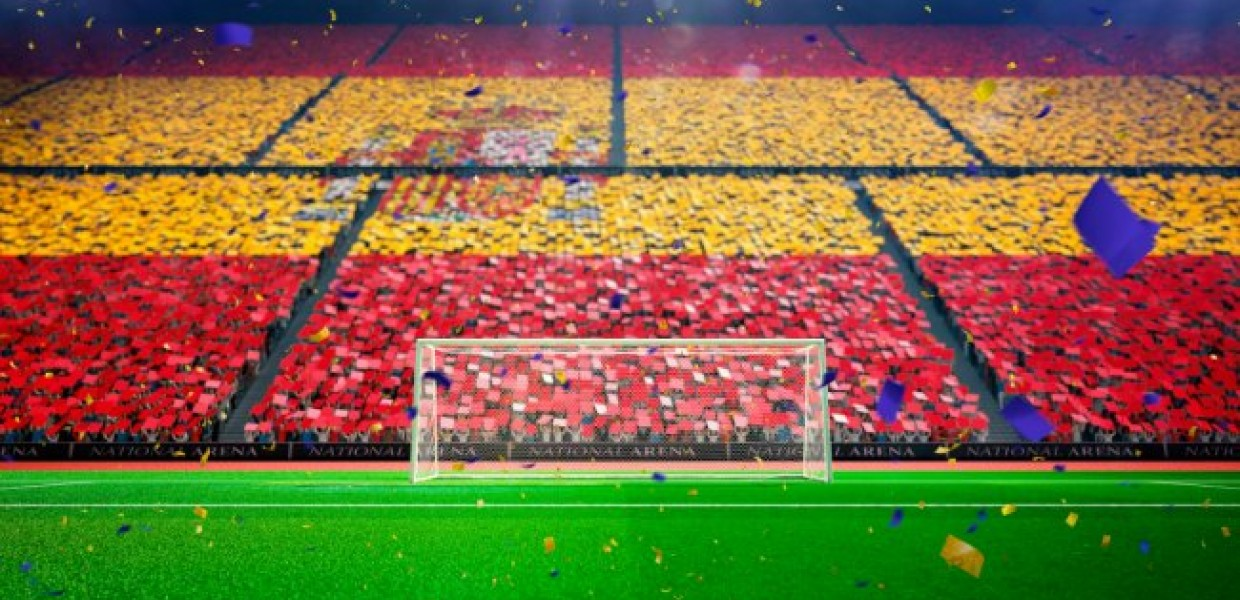 Spanish Flag at football stadium