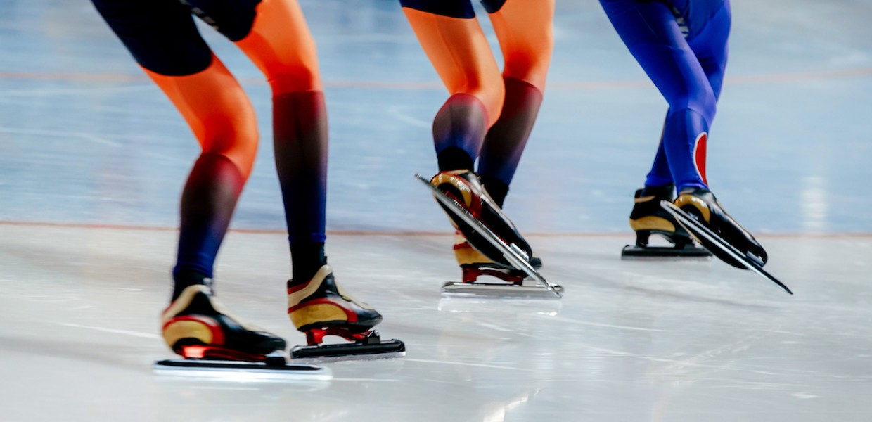 Speed Skaters Racing
