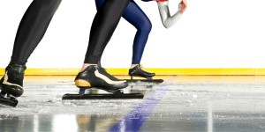 Speedskaters at start