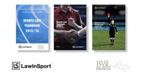 Sports Law Yearbook covers for last three editions