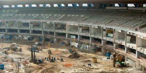 Stadium under construction Brazil
