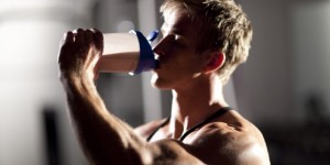 Body builder drinking