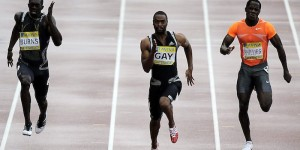 Tyson Gay in 100m race