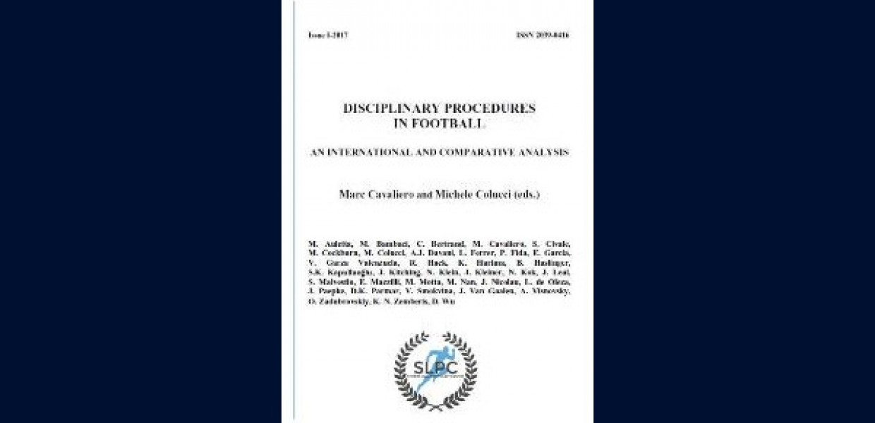 Cover of Disciplinary Procedures in Football (October 2017)