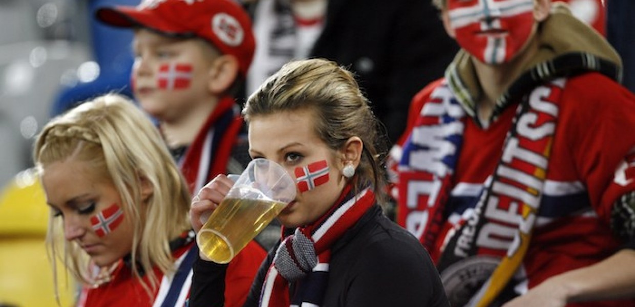Fans Drinking Beer